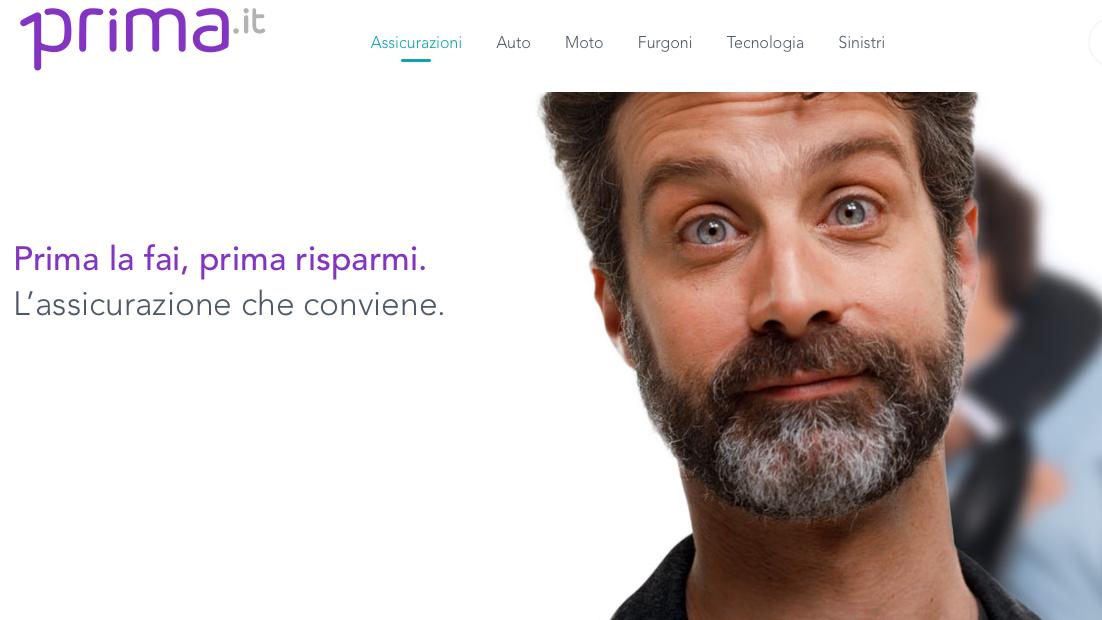 Campagna pubblicitaria tv e web per Prima.it